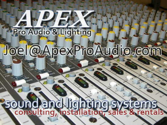 APEX Pro Audio And Lighting   Sound Systems   Sales Rentals Installation
